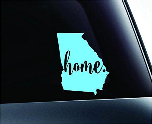 (#3 Home Georgia State Atlanta Silhouette Symbol Sticker Decal Car Truck Window Computer Laptop (Mint) )