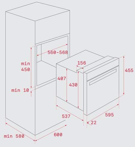 Teka HSC 635 P - Horno (Pequeño, Horno eléctrico, 44 L, 2515 W, 44 ...