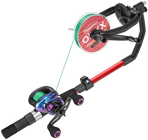 Piscifun Speed X Fishing Line Spooler Machine with Unwinding Function - Fishing line Winder Spooler Fishing line Spooling Station Works with Spinning Reel, Cast Reel and Spincast Reel