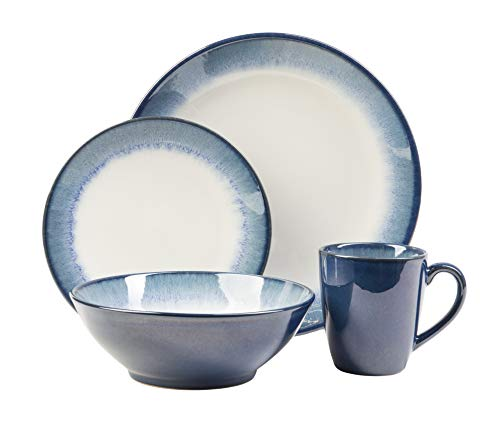 (Sango: Novelle Dusk 16-Piece Dinnerware Set, Including 4 Dinner Plates, 4 Salad Plates, 4 Bowls, and 4 Coffee)