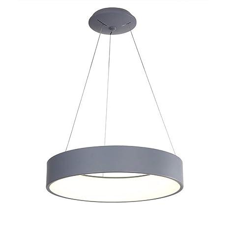 Amazon.com: Lámpara de araña redonda LED de 28 W, pantalla ...