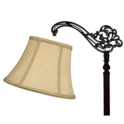 Upgradelights Eggshell Uno 12 Inch Lamp Shade Replacement for Down Bridge Lamp 6x12x9