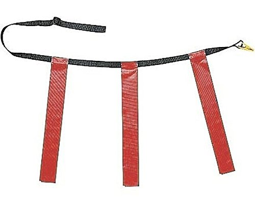 Martin Dozen (12) Flag Football Quick Release Buckle Web Belts with 3 Flags (Red, (Belt Buckle Football Buckles)