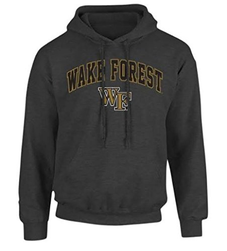 Wake Forest Demon Deacons Hooded Sweatshirt Arch Charcoal - L