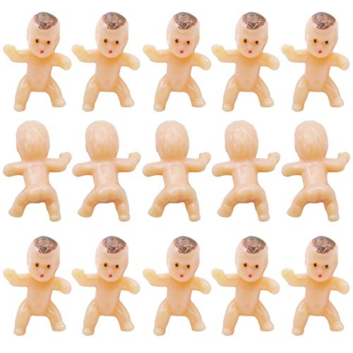 (120 Pieces 1 Inch Mini Plastic Babies Tiny Baby Doll for Party Favor Baby Shower Ice Cube Game Party Game Decor Party Decorations)