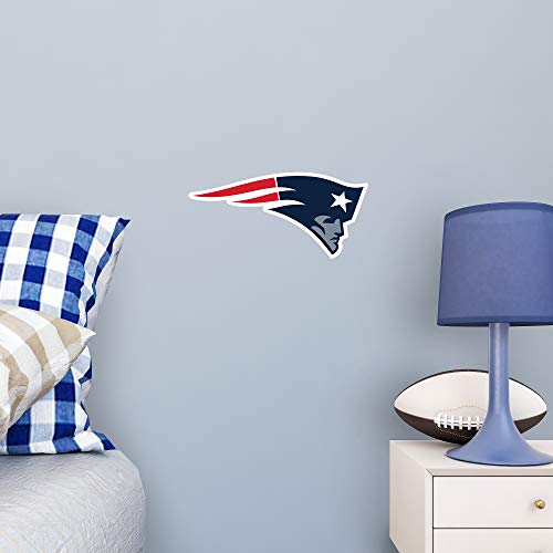 FATHEAD NFL New England Patriots - Logo Teammate- Officially Licensed Removable Wall Decal, Multicolor, Big, Large