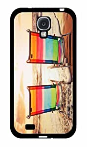 Beach Chairs At Sunset - Case Back Cover (Galaxy S4 - TPU Rubber Silicone)