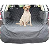 Pet Dog Cargo Liner for SUV's and Cars, Dog Vehicle Cargo Liner Cover Waterproof Material, Non Slip Backing, with Side Walls Protectors