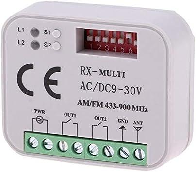 BEWARE OF FAKES!!! Receiver RX-Multi Universal 2-Ch 9V ~ 30V AC//DC 433-900MHz