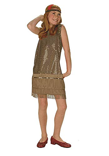 Sequin Flapper,Gold,Small 4-6 ()