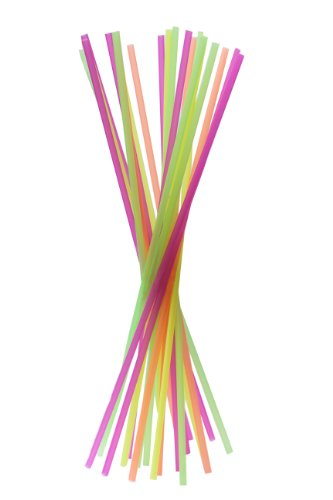 Perfect Stix Neon20-200ct Long Straight Neon Straws, 20