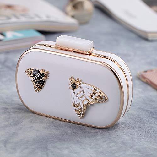 borsa Nero delle del da della farfalle borsa della giovani Borse della signore nuziale partito cerimonia delle frizione Ofgcfbvxd Colore decorazione della della donne Bianca delle borsa w05qSxUx