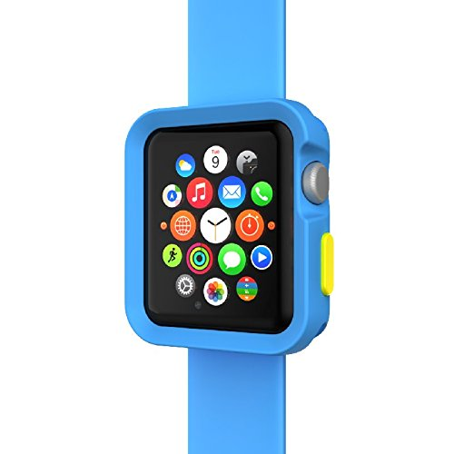 SwitchEasy Colors Apple Watch Case Bumper Protection with Interchangable buttons 38mm (Blue)