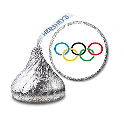 Toy Olympic Rings - 216 Olympics Rings Labels/Stickers for Hershey's Kisses Candies - Party Favors by JS&B Enterprises by JS&B Enterprises