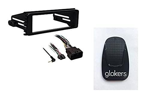 Metra 99-9600 1996 and Up Harley Davidson Stereo Install Kit (Black). Also Includes Glokers Motorcycle Kickstand Pad Support in Black