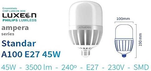 Bombilla LED E-27 45w 5000K IP40 3500lm farolas