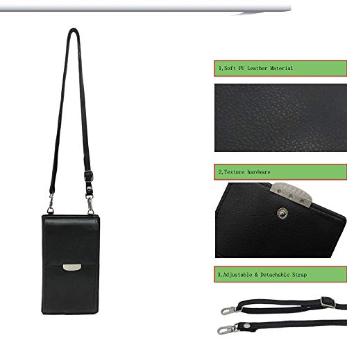 Summer Small Crossbody Bag, Cell Phone Purse Wallet with 2 Adjustable Shoulder Strap Handbag for Women (Black) by VIVI MAO (Image #4)