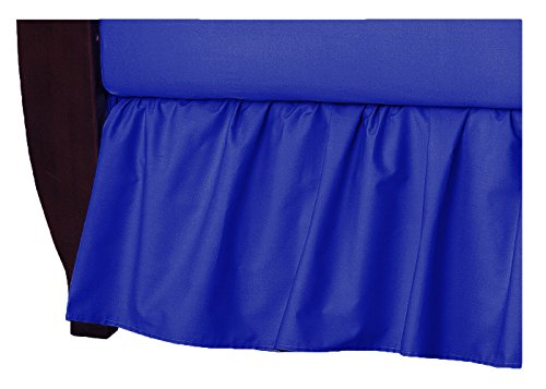 TL Care 100% Natural Cotton Percale Crib Bed Skirt, Royal, Soft Breathable, for Boys (Cotton Percale Bedskirt)