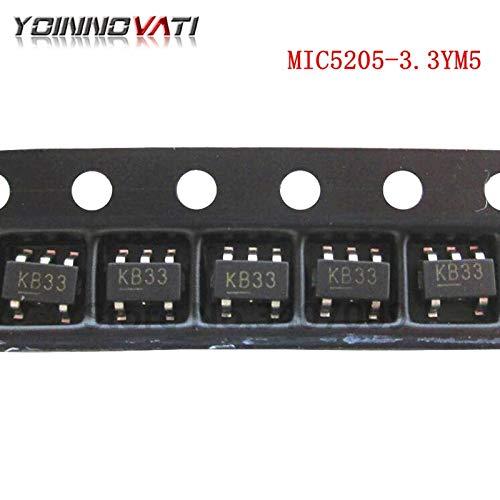 Gimax 10pcs/lot MIC5205-3.3YM5 3.3V LDO regulator output voltage SMD SOT23-5 new original ()