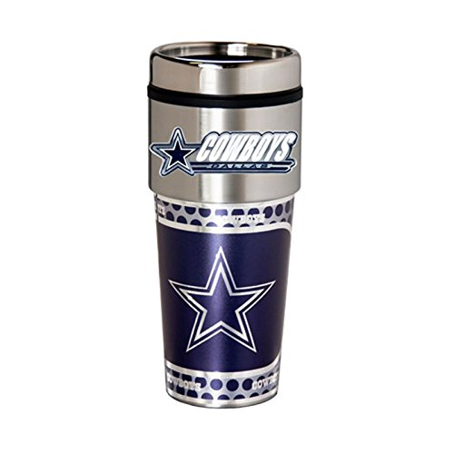 Dallas Cowboys 16oz. Stainless Steel Travel Tumbler/Mug (Cup Nfl Mug Coffee)