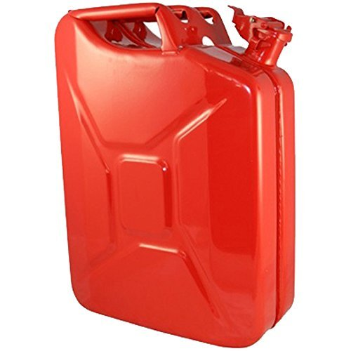 20 Liter (5.2 gallon) NATO Jerry Can for Gas, Diesel, Kerosense (RED)