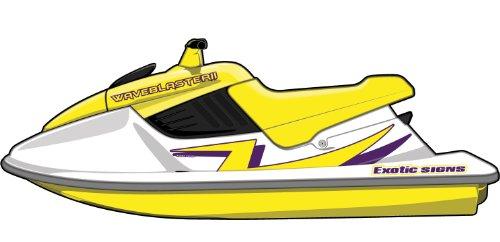 Exotic Signs Yamaha Blaster 2, 2 Color Lightning Bolt Graphic Kit - EY0004BL2 (025 Brimstone Yellow / 040 Violet)