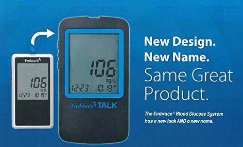 Embrace TALK Blood Glucose Monitoring System (Meter + 10 Strips)