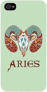Zodiac Aries-March 21 to April 20-The Ram- Case for the Apple Iphone 4-4s Universal- Hard White Plastic wangjiang maoyi by lolosakes
