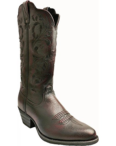 Brush Off Western Boot - Twisted X Womens Burgundy Leather 12in Brush Off Western Cowboy Boots 8.5B