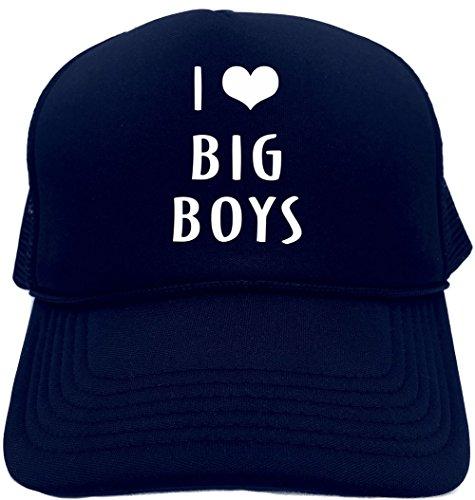 Signature Depot Funny Trucker Hat (I Love (Heart) Big Boys) Unisex Adult Foam - Boys Hat Signature