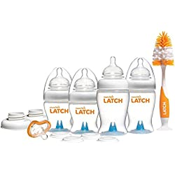 Munchkin Latch Anti-Colic Baby Bottles, 12 Piece Newborn Set, BPA Free