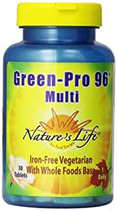 Nature's Life Green Pro-96 Multi Tablets, 30 Count