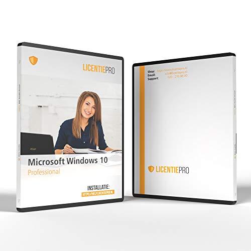 Originele Windows 10 Professional 64bit ISO DVD met licentie en inclusief alle actuele updates, auditproof volume…