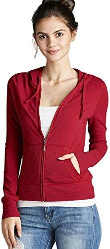 [해외]ToBeInStyle 여성용 긴 소매 풀 지퍼 라이닝 드로우 스트라이프 까마귀/ToBeInStyle Women`s Long Sleeve Full Zip-Up Lined Drawstring Hoodie