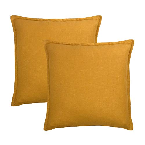 Sherry Kline Frisco Linen Amber Reversible 20-inch Decorative Pillow (Set of 2) ()