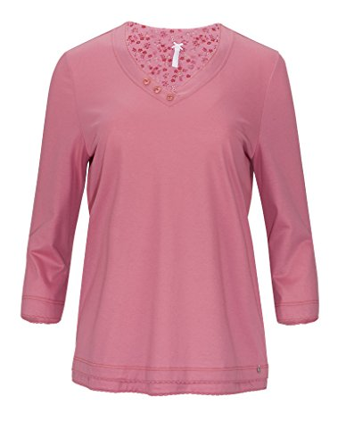 Rosch 1163529-10056 Haut de Pyjama en Coton Manches 3/4 - Framboise