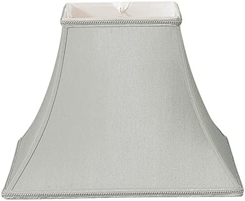 Royal Designs Square Bell Designer Lamp Shade, Gray, 7 x 14 x 11.5
