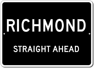 Custom Aluminum Sign - RICHMOND, KENTUCKY US City Straight Ahead Sign