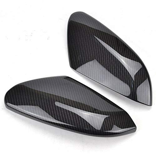 TZOU 2pcs Rearview Mirror Cover Side Door Mirror Carbon Fiber Cover Trim for Honda Civic 2016 2017 2019