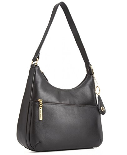 Giani Bernini Nappa Black Leather Hobo Handbag