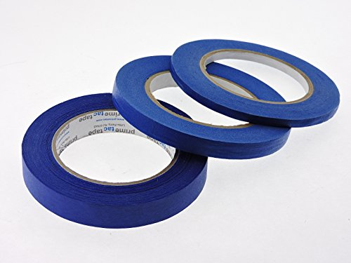 yd Multi Size Pack Blue Painters Tape PROFESSIONAL Grade Fine Masking Edge Pin Stripping Trim Multi Surface Easy Removal (.25 .5 .75 in) ()