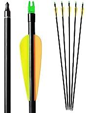 Bogenkönig pilar för bågskytte 12-pack set av glasfiberglas 30 tum med spets metall för sammankoppling pilar pilar – pilar och bågar vuxna