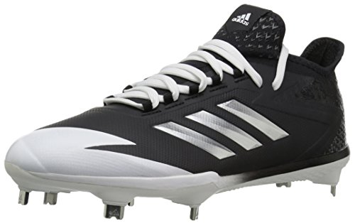 adidas Men's Freak X Carbon Mid Baseball Shoe, Core Black, Silver Met, FTWR White, 10.5 M US