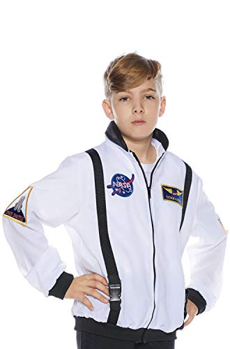 (Underwraps Kid's Children's Astronaut Costume Jacket - White Childrens Costume, White, Large)