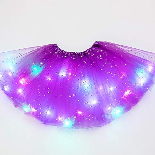 Almabner Meisjes Tutu Rok, Schattig Meisje Prinses Fancy Pluizige Dancewear Ballet Dance Kostuum, Kids Ster Pailletten…