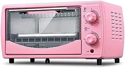 mini forno con griglia elettrica mini forno per uso domestico capacit/à 12 litri mini forno e griglia con doppi piatti caldi Mini forno elettrico compatto 30 minuti di rotazione colore rosso Nero