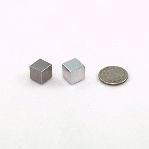 Tungsten Aluminum Cube Set 1cm