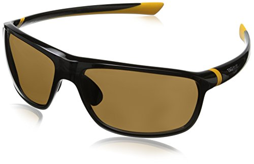 Tag Heuer 27 Degree 6023 205 6023205 Polarized Rectangular Sunglasses, Yellow,Shiny Black & Brown - Sunglasses Degree With