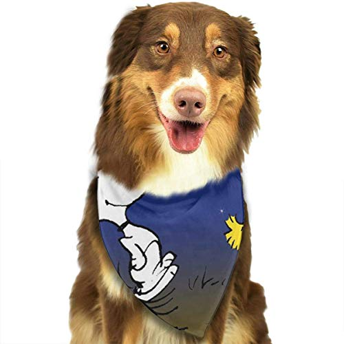 dolphin Ty Pet Dog Bandanas,Snoopy-Dancing-in-Color Printing Dog Kerchief,Triangle