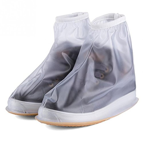 FidgetFidget Shoes Dry & Dry Steppers - Waterproof Sneaker Cover Keep in the Rainppin white large size